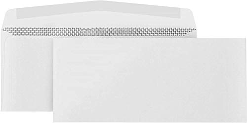 500 No. 10 Security Envelopes - Gummed Flap - Tamper Proof Design -...