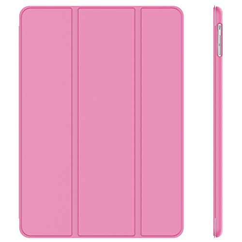 JETech Hülle Kompatibel iPad Air (2013 Modell), Schutzhülle mit Ständer Funktion und Auto Schlaf/Wachen, Rosa