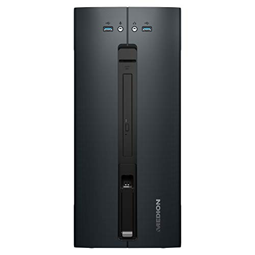 MEDION P5602 Desktop PC (AMD Ryzen 5 2600, 8GB DDR4 RAM, 1TB HDD, NVIDIA GeForce GTX 1650, DVD, WLAN, Hot Swap, Win 10 Home)