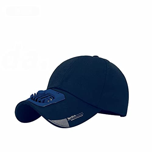 MJ-Brand Gorra de béisbol con refrigeración por Ventilador, Carga USB, Parasol para Exteriores, Protector Solar, Deportes, Viajes, Gorra de béisbol con Ventilador, Ventilador para Deportes de Golf