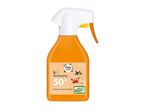 Cien Sun Sonnenschutz Kids Sonnenspray, LSF 50 +, Sehr Hoch, Ohne Duftstoffe, 250 ml