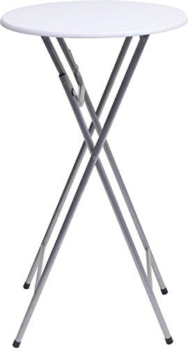 Unimet Stehbiertisch-660843, weiß, 60 x 60 x 110 cm, 756955