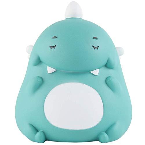 Piggy Bank Dinosaur Piggy Bank Hucha Caja de Dinero Ahorro de Monedas de Juguete Banco de Dinero con tapón Banco de Monedas de Vinilo Grandes Regalos de cumpleaños para niños Regalo (Color: