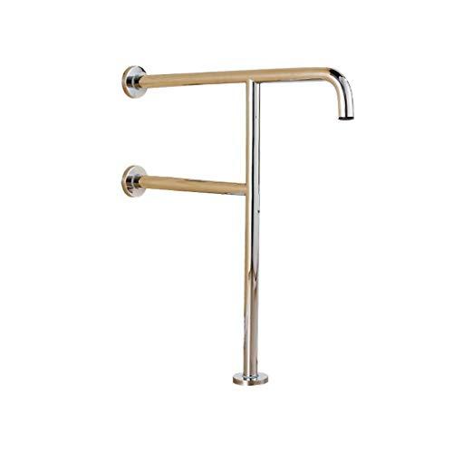 QOVCX roestvrijstalen T-vormige antislip leuningbadkuip badkamer-veilige deurmatten voor ongeschikte personen, driehoekige klemmen 600 mm * 700 mm, kan 200 kg worden gedragen.
