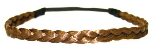 Bande de cheveux tressés/bandeau/cheveux synthétiques en brun NOUVEAU
