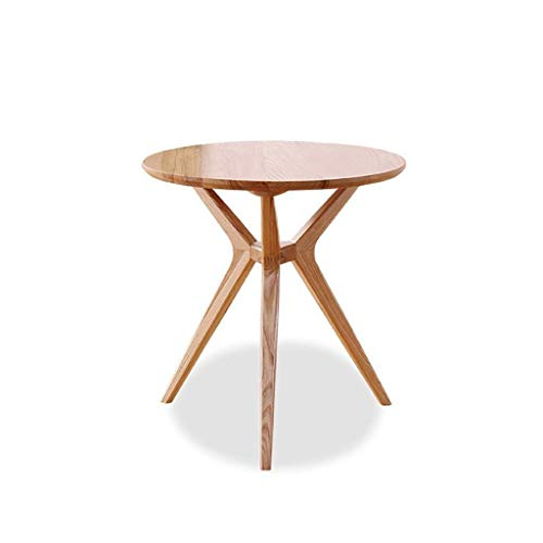 WSHFHDLC coffee table End Tables Small Coffee Table Balcony Mini Ash Round End Table Living Room Apartment Sofa Corner Table Bedroom Bedside Table small coffee tables (Size : 80cm in Diameter)