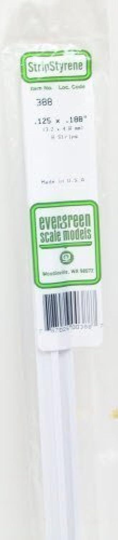 .125 x .188 x 24 Strips (8) Evergreen by EVERGREEN