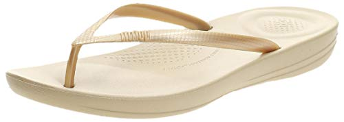 Fitflop Iqushion Ergonomic Flip-flops, Damen Dusch- & Badeschuhe, Gold (Gold 010), 39 EU (6 UK)