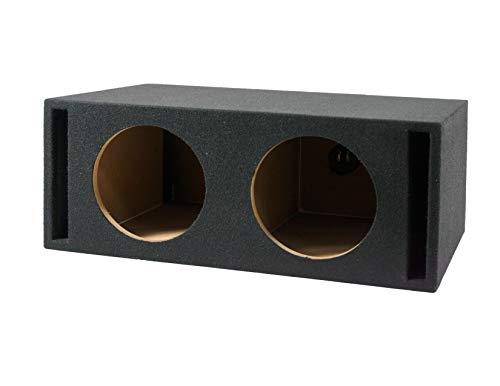 "Absolute USA VEGD12+ Dual 12"" Universal Vented Ported sub Box Subwoofer Enclosure"