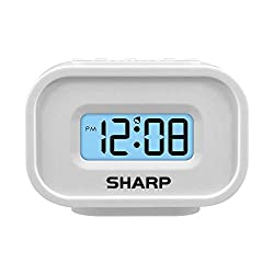 Sharp LCD Display Digital Alarm – Ascending Alarm – Blue Backlight on Demand – Easy to Use - Battery Operated