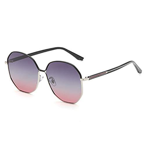 HDSJJD Gafas De Sol Polarizadas Irregulares De La Moda De Las Señoras Gafas De Sol Multifuncionales De Protección UV400 para Conducir Viajes,E