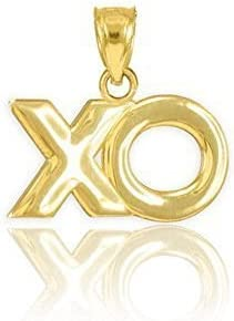10k Yellow Gold XO Spring wholesale new work one after another Hugs Pendant and Kisses Charm