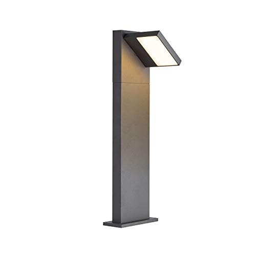 SLV LED Außenleuchte ABRIDOR 60   Design Außen-Standleuchte, Außenbeleuchtung, Outdoor LED Wege-Leuchte, Pollerleuchte, Stehleuchte, Garten-Lampe, Gartenleuchte   CCT Switch (3000K/4000K), 750 lm, 14W