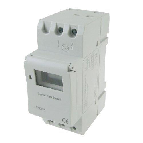 DealMux montaje en carril DIN programable semanal temporizador electrónico THC15A DC 24V