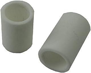 円筒碍子 ガイシ 耐熱〜1300度 円の直径φ5〜5.5 外径φ7.5mm 長さ10〜13mm 20個入<gai-001>