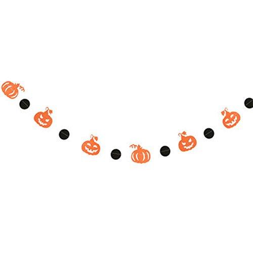 Demarkt Halloween-pompoen papier vlaggetjes banner vlaggen bonting slinger Halloween party decoratie