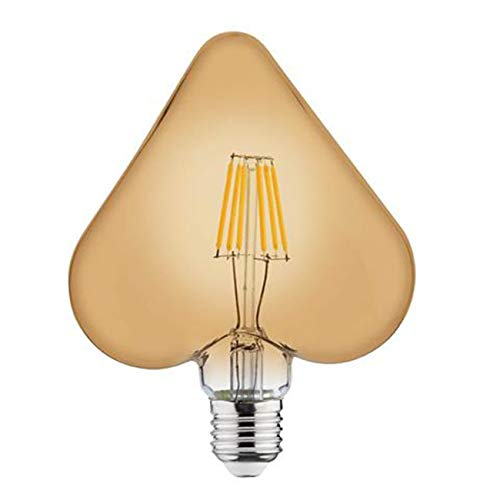 LED Lamp - Filament Rustiek - Hart - E27 Fitting - 6W - Warm Wit 2200K