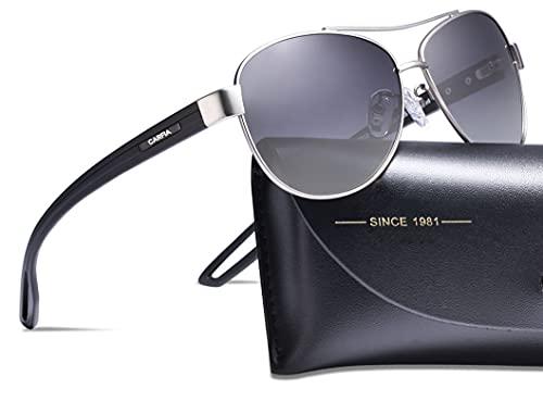 occhiali da sole uomo carfia Carfia Occhiali da sole da Uomo Donna Pilot Polarizzati UV400 Protezione Occhiali da Outdoors