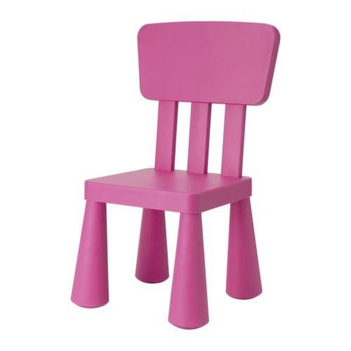 Ikea–Silla infantil Mammut Niños Muebles Silla en color rosa muy resistente