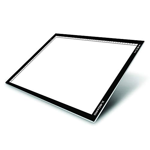 XECH LED Drawing Board A4 Size X-Board Lighted Tracing Pad with Brightness Control X-Ray Viewer Box