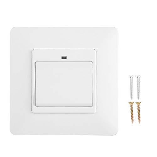 AMONIDA Soporte de Control Remoto de teléfono móvil, Interruptor de luz Inteligente de Material ignífugo de PC, Interruptor de Pared de Carcasa de aleación de Aluminio, para(1 Key)