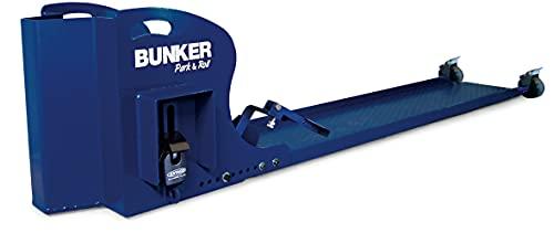 Bunker BR68KIT Kit Sistema de Ruedas y Plataforma para añadir Antirrobo Máxima Seguridad Moto/Scooter para Parking, Azul