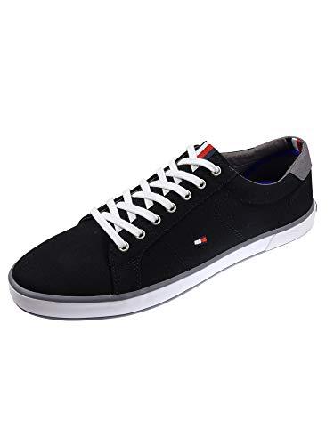 Tommy Hilfiger Herren Schuhe Lace Up Sneaker Harlow Schwarz Sneakers 42 EU