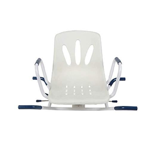 XHCP 360 ° drehbarer Badesitz, drehbare Badewannen-Dusche, mit Rückenlehne + Armlehnen-Badestuhl, geeignet für Schwangere Frauen/ältere Menschen/Blutbehinderte,