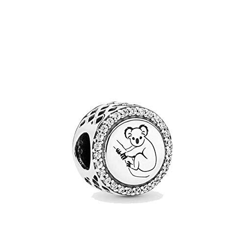 pandora 925 plata esterlina DIY colgante joyería koala granos encantos ajuste pulsera swing joyería de moda CMS
