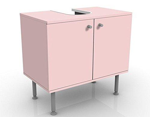 Meuble sous Vasque Design Colour Rose 60x55x35cm, Petit, 60 cm de Large, réglable, Table de lavabo, Armoire de lavabo, lavabo, Meuble Bas, Baignoire, Salle de Bains, Armoire de Salle Bains