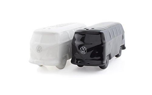 Brisa VW Collection VW T1 Bulli Bus Salz & Pfefferstreuer 2er Set (Schwarz und Weiß)