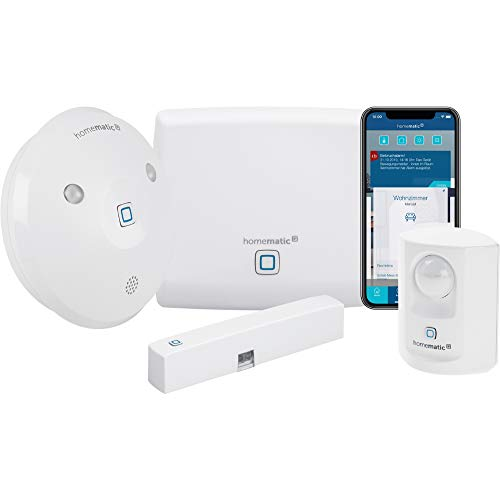 Homematic IP Smart Home Starter Set Alarm - Intelligenter Alarm auch aufs Smartphone, 153348A0