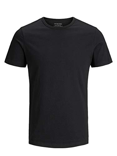 Jack & Jones Jacbasic Crew Neck tee SS 2 Pack Camiseta, Negro (Black Black), Large (Pack de 2) para Hombre