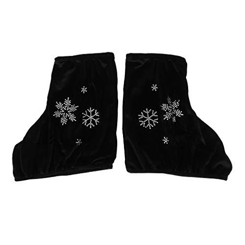 IPOTCH 2pcs Hielo/Figura/Roller Skate Boots Cubierta de Protección Herramienta con Imagen de Copo de Nieve