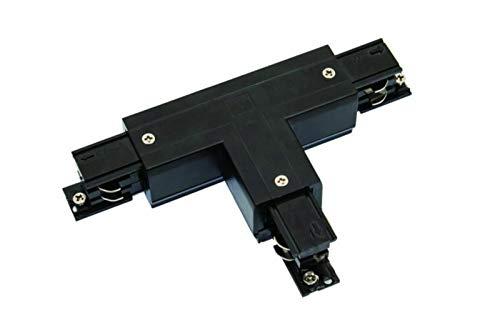Rail d'alimentation triphasé en T à gauche 1 Powergear noir/blanc (noir)