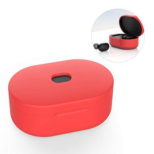 Funda de silicona para Xiaomi Redmi AirDots Estuche de carga, versión juvenil Dust-Guard Auriculares inalámbricos Piel protectora para accesorios de auriculares Bluetooth