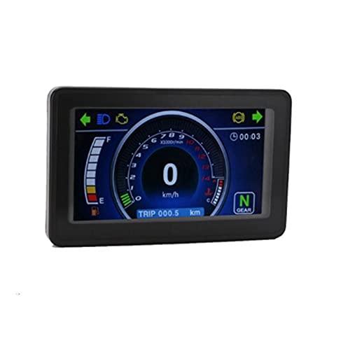 Z-LIANG 1,2,4 Motocicleta Universal del Cilindro. LCD Moto de Instrumento multifunción multifunción de Velocidad reemplazable de clúster de Pantalla (Color : Speedometer)