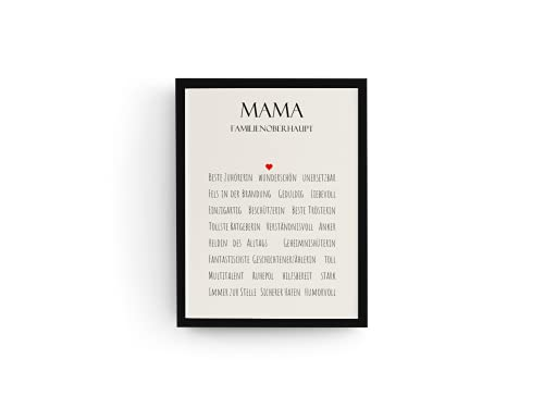 Idea regalo per la mamma o il padrone della famiglia, con cornice, idea regalo per la festa della mamma, Natale, compleanno
