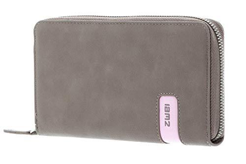zwei Mademoiselle Wallet Damengeldbörse 19 cm, Nubuk-taupe (Braun), -
