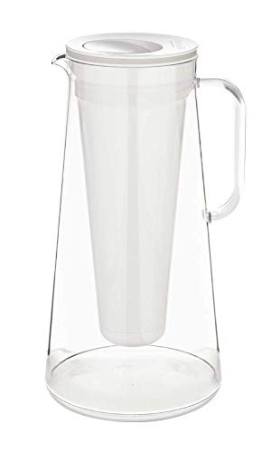 LifeStraw Home 10-Cup BPA-Free Plastic Water Filter Pitcher Tested to Protect Against Bacteria, Parasites, Microplastics, Lead, Mercury, and a Variety of Chemicals (White)