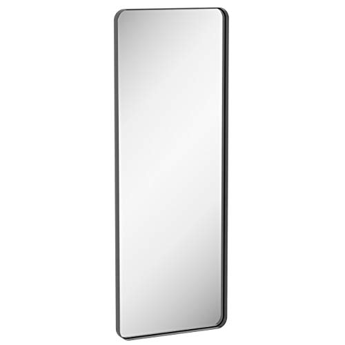 ZEEK 60x22 Full Length Black Mirror Wall Mounted Thin Edge Large Decorative -
