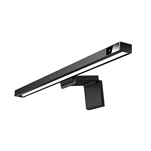 JKMQA LED Lámparas de Escritorio,Luz del Monitor E-Reading,Control Táctil,Regulable Continuamente,3 Temperatura del Color,Atenuación Automática,Ni Parpadeo en la Pantalla,Negro