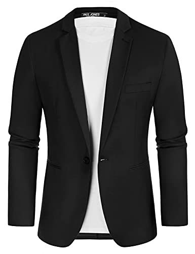 Men's Suit Jacket One Button Sli...