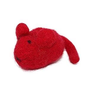 Filzmaus rot mit Baldrian – für Katezn