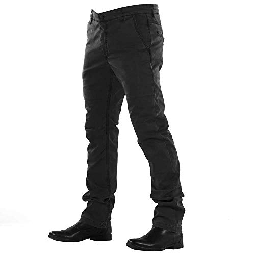Overlap Chino heren jeans, zwart, maat 34