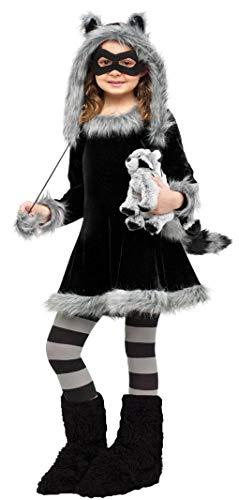 Horror-Shop Waschbär Kostüm für Kinder als Faschings, Karnevals & Halloween Kostüm L