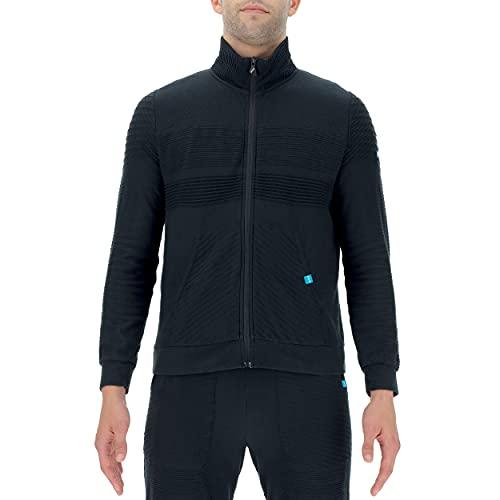 UYN Man Natural Training OW Full Zip Shirt Long SL Chaqueta calentadora, Pizarra, Medium para Hombre