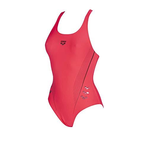 ARENA Damen Badeanzug Sport Chameleon, Fluo red-Shark, 42, 002844