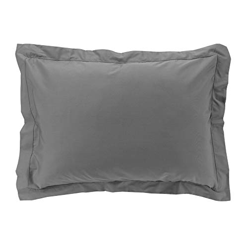 Funda de Almohada de percalina, Color Antracita, 50 x 70 cm