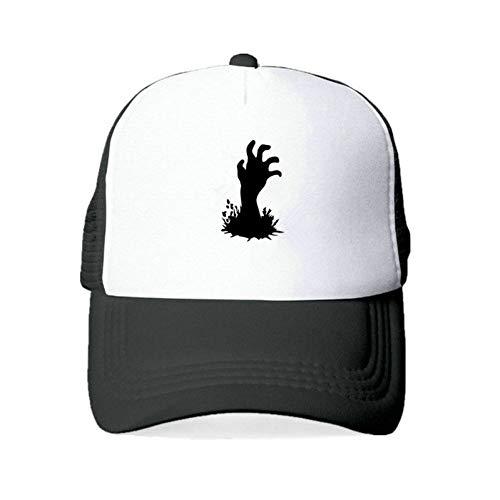 Baseball Cap Lässig gedruckte Zombie Logo Snapback Caps Erwachsene Warnung Zombie Letters Outdoor Hüte Unisex Walking Dead Baseball Cap